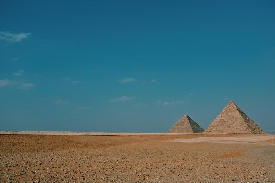 Field, Desert, Landscape, Horizon, Blue, Sky