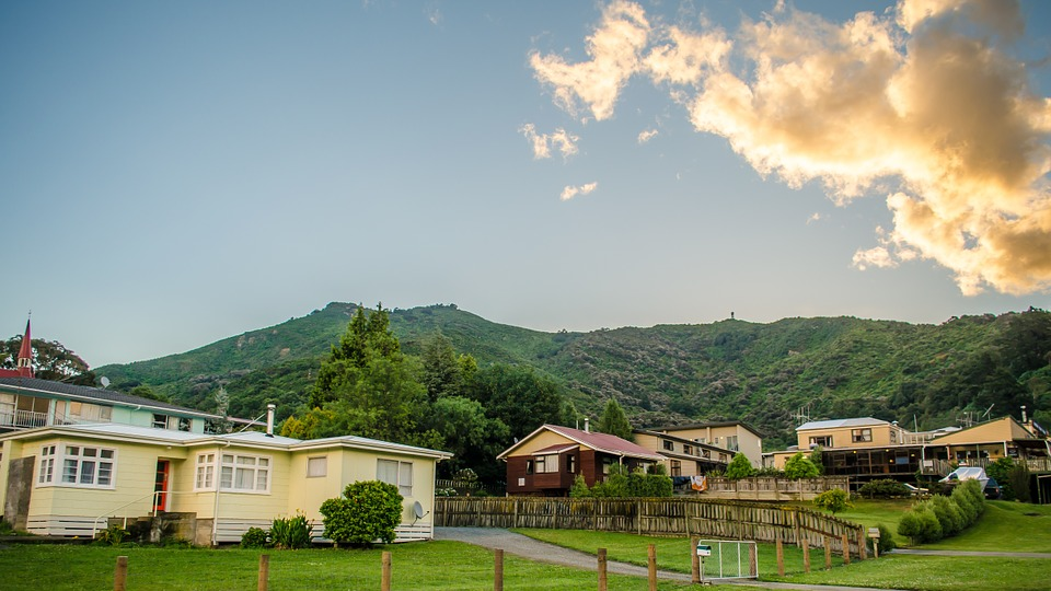 Landscape, Houses, Mountain, Nature, Mount