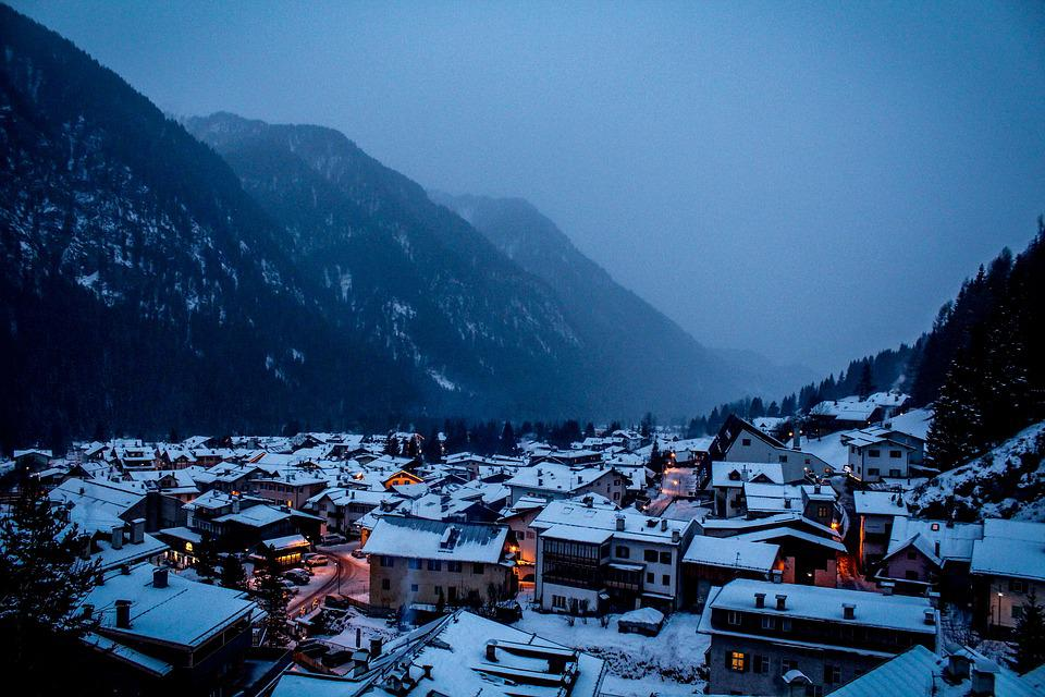 Alps, Mountains, Italy, Landscape, Snow, In Winter