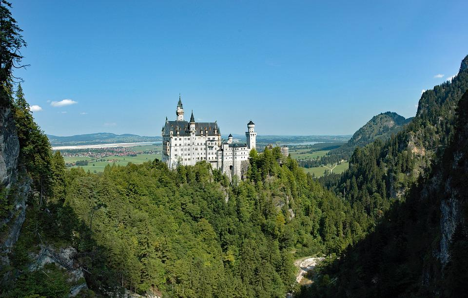 Germany, Bavaria, Allgäu, Kristin, Castle, Landscape