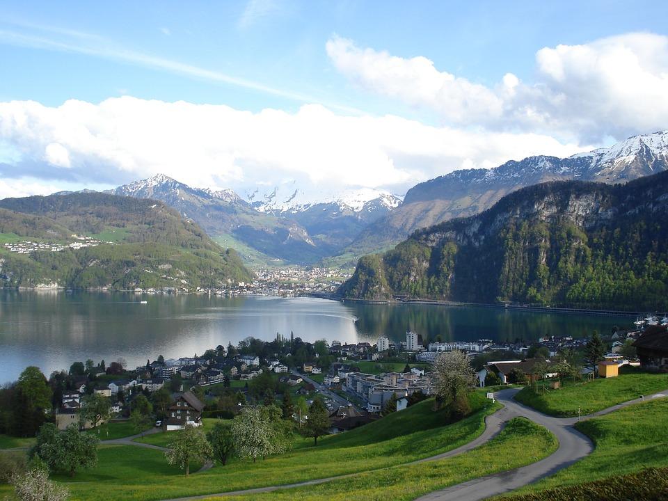 Landscapes, Landscape, Lake, Central Switzerland