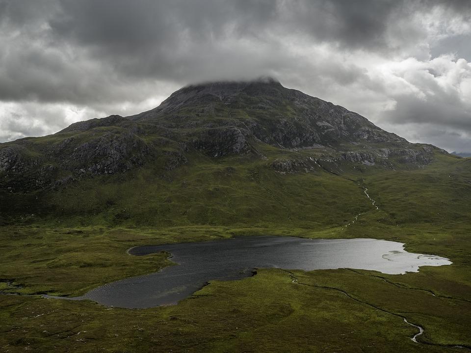 Lake, Landscape, Mountain, Water, Nature, Mountains