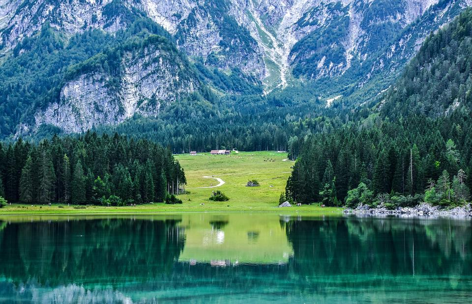 Lake, Mountain, Fusine, Nature, Mountains, Landscape