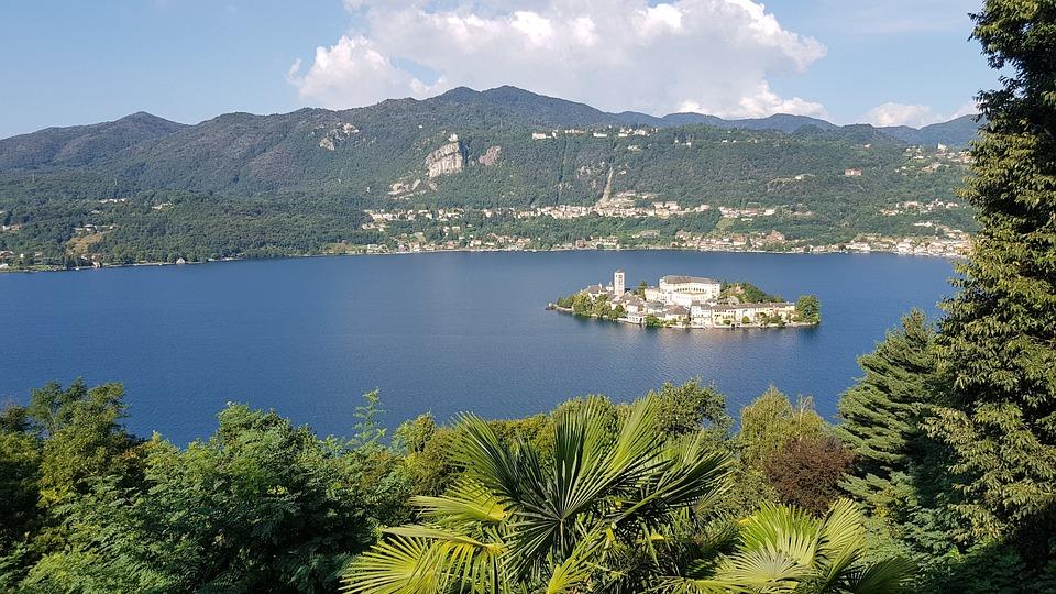 Landscape, The Island Of San Giulio, Waters, Lake