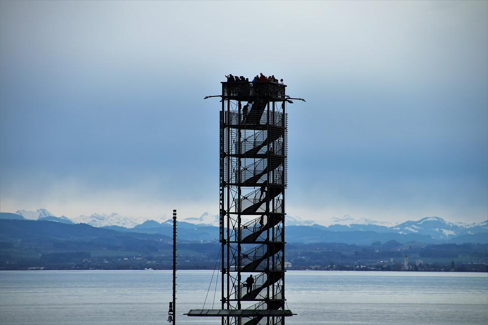 Lake, Landscape, Bodensee, Stairs, Beach, View