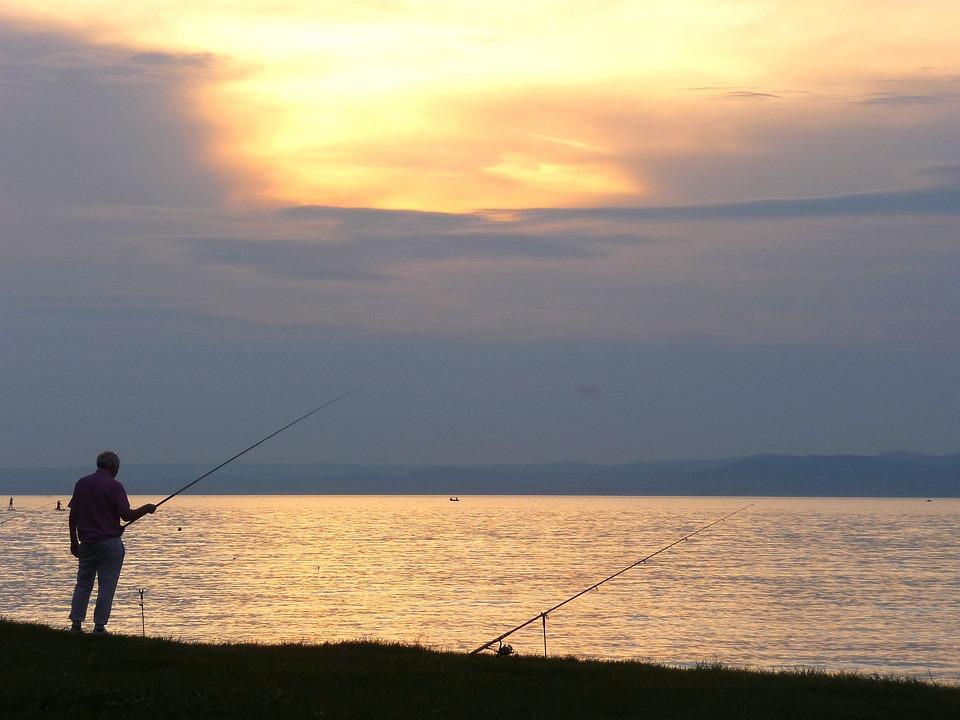 In The Evening, Lake, Dusk, Lights, Water, Landscape