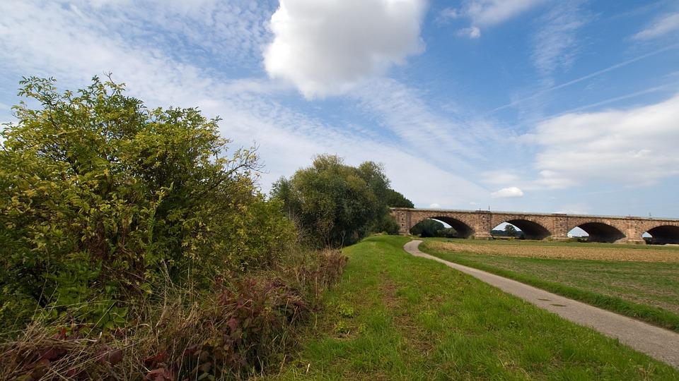 Spring, Lane, Clouds, Landscape