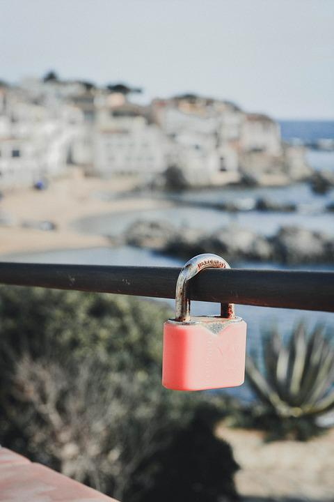 Padlock, Love, Landscape, Mediterranean, Romantic