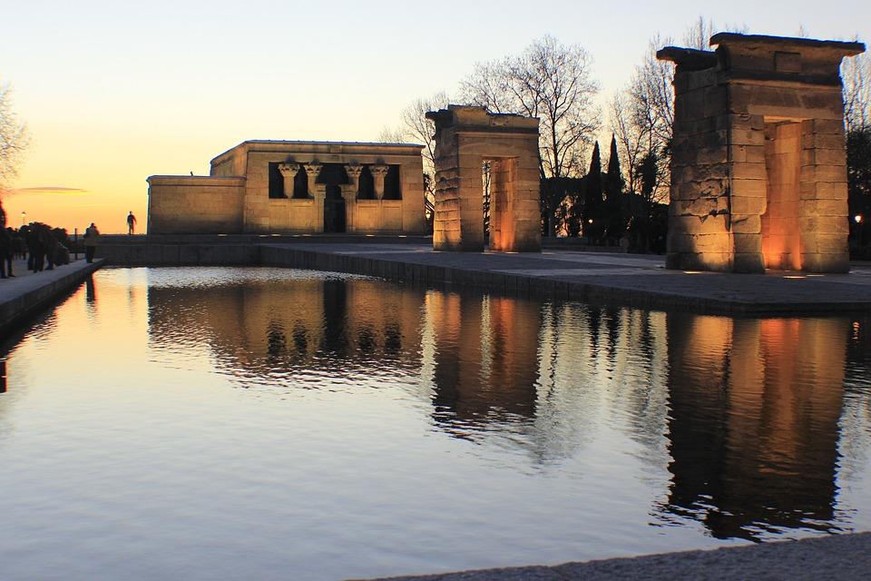 Temple, Madrid, Spain, Landscape, Temple Of Debod