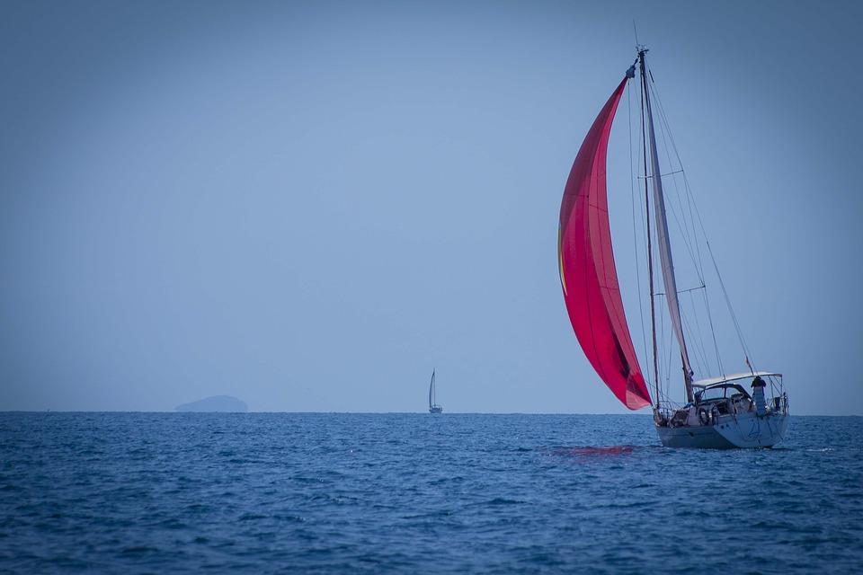 Boat, Sailboat, Wind, Sea, Candles, Mast, Landscape