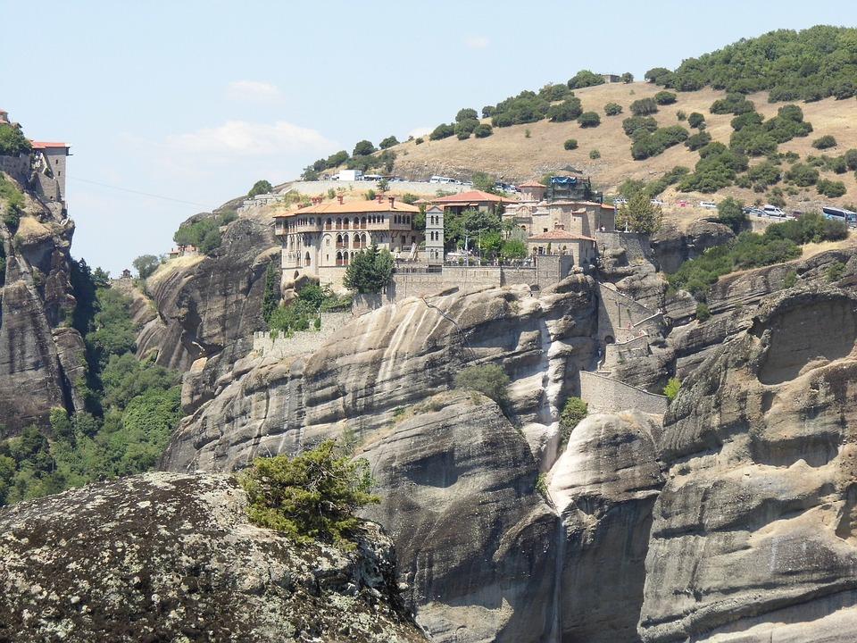 Meteora, Monastery, Mountain, Landscape, Rock, Greece