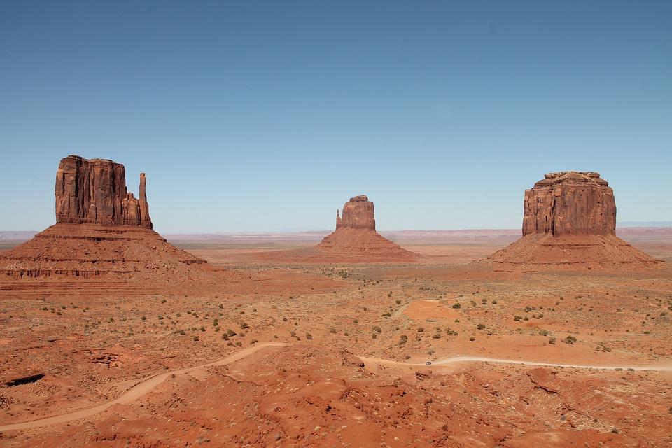 Monument Valley, America, Desert, Landscape, Arizona