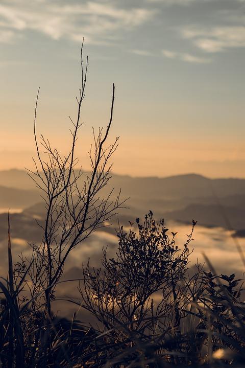 Nature, Sunrise, Landscape, Clouds, Mountain
