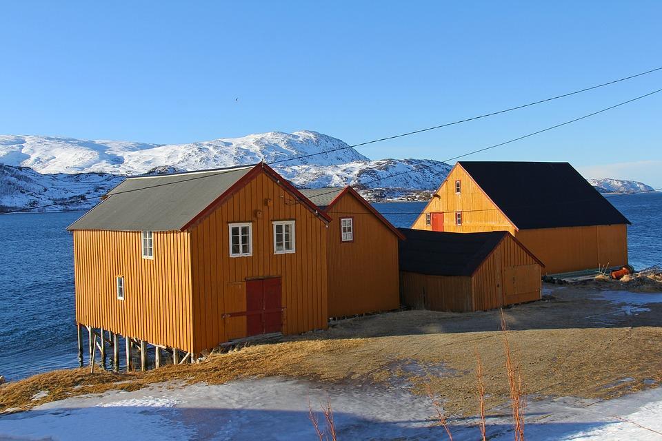 Landscape, Beautiful, Sky, Sea, Fjord, Snow, Mountain