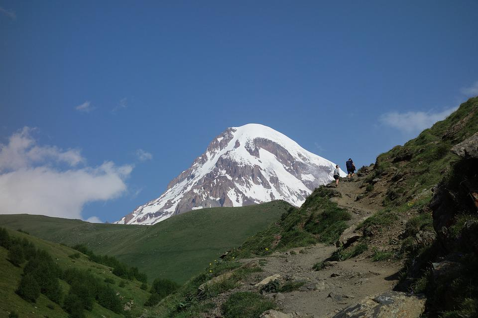 Georgia, Mountains, Kazbek, Caucasus, Landscape, Nature