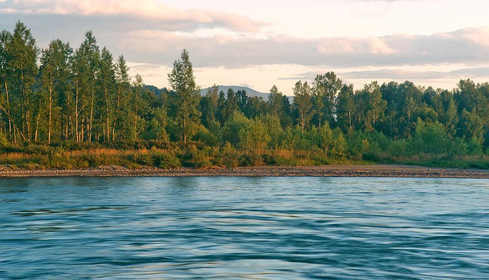 Landscape, Altai, Katun River, Nature, Mountains, Sky