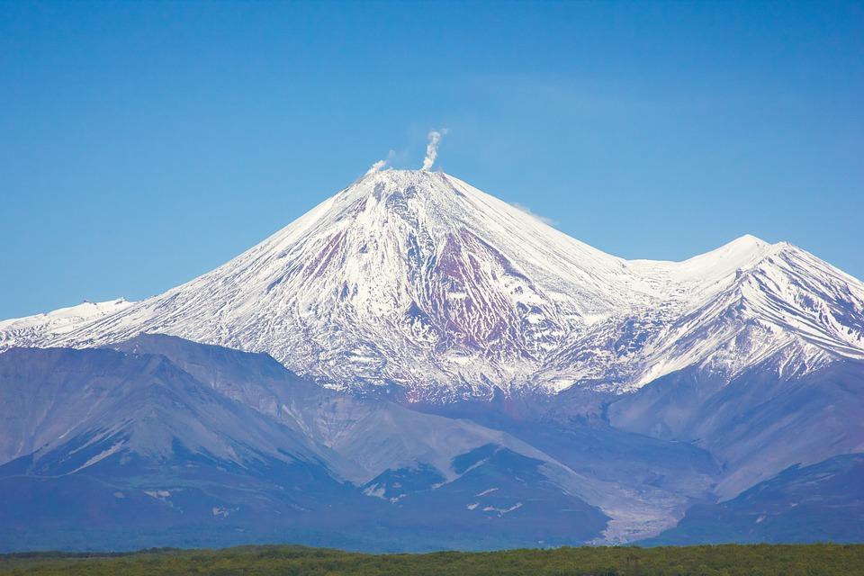 Volcanoes, Mountains, Nature, Landscape