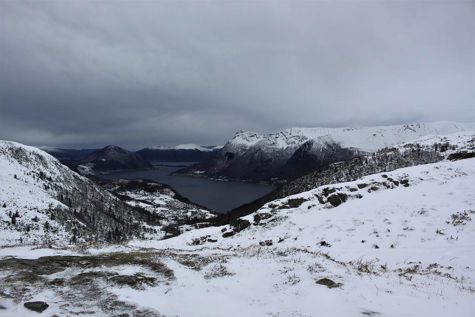 Norway, Mountains, View, Clouds, Landscape, Nature