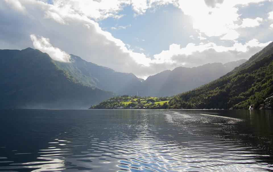 Fjord, Sea, Landscape, Nature, Norway, Water, Mountains