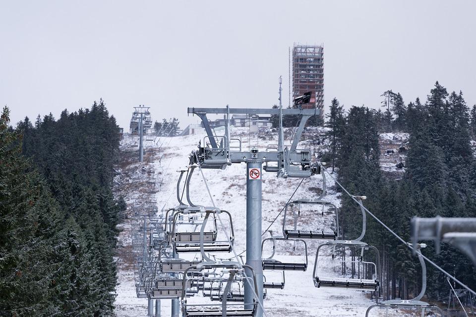 Mountains, View, Skiing, Landscape, Sky, Ski Run