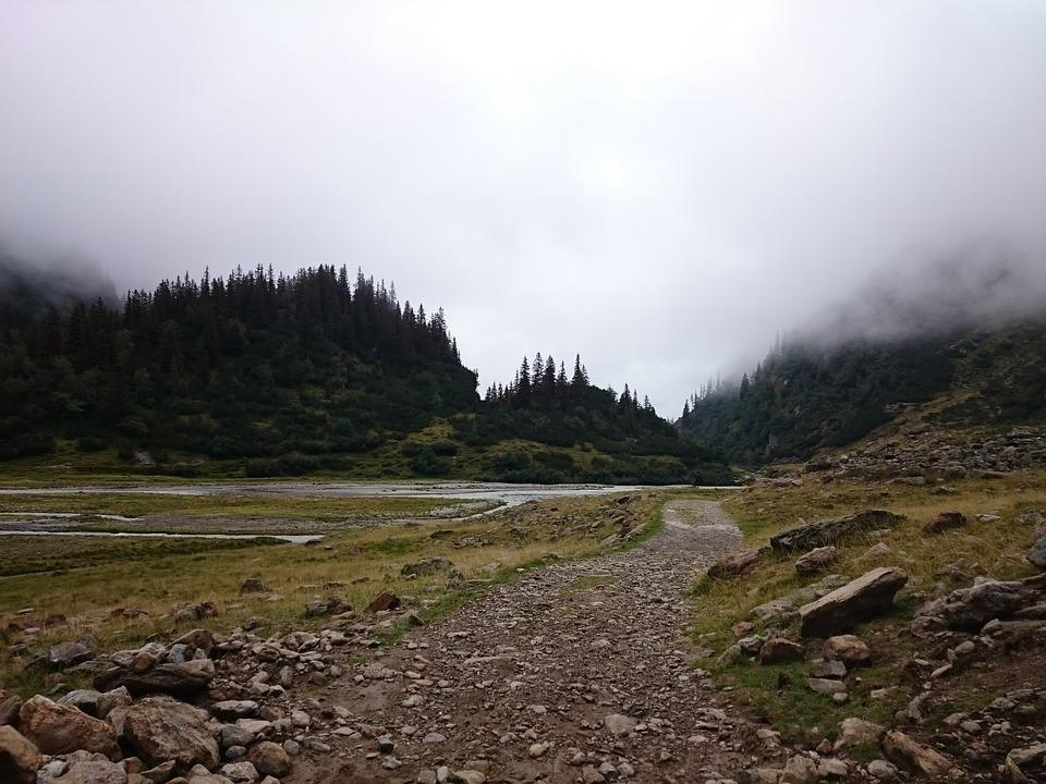 Hiking, Mountains, Landscape, Nature, Fog, Trail, Hike