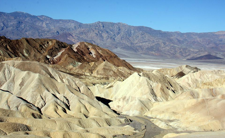 Death Valley, Zabriskie Point, National Park, Landscape