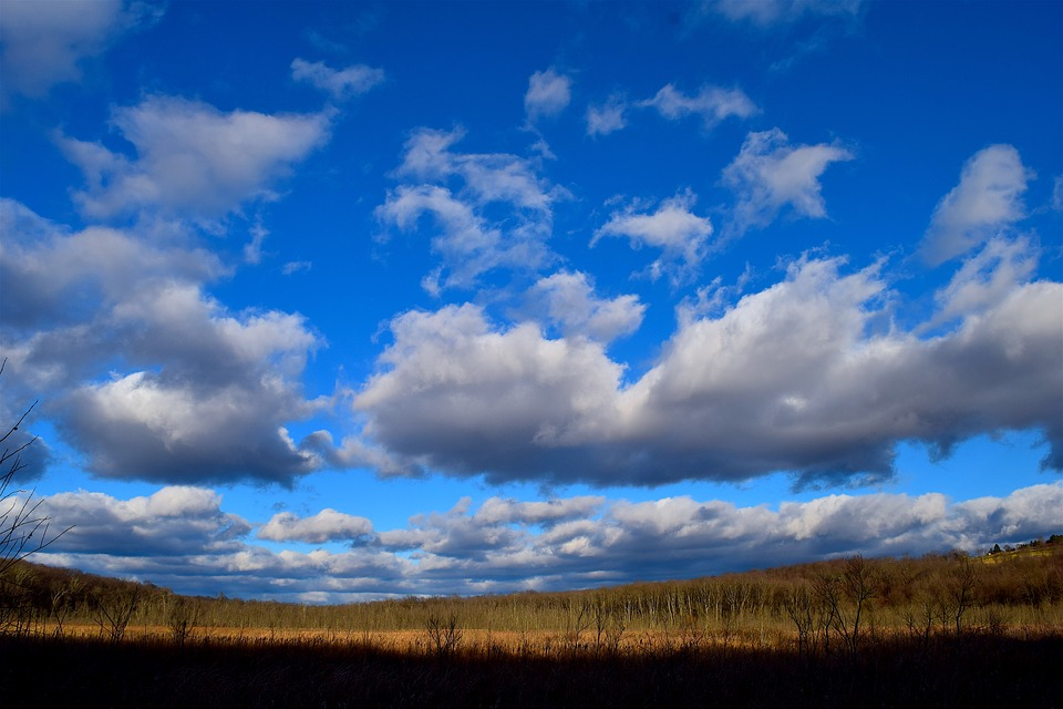 Landscape, Clouds, Sky, Field, Nature, Autumn