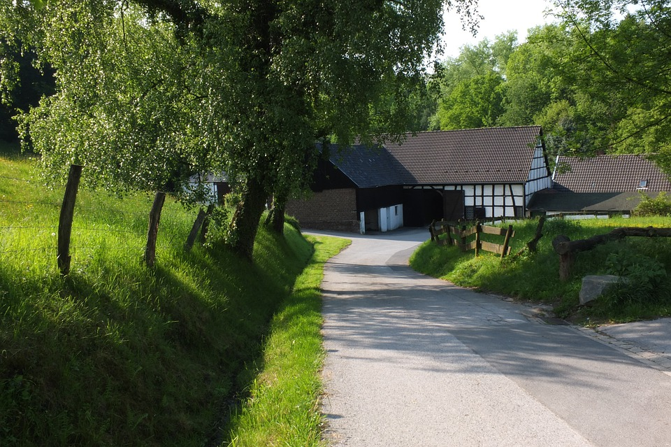 Neanderthal, Landscape, Nature, Farmhouse, Fachwerkhaus