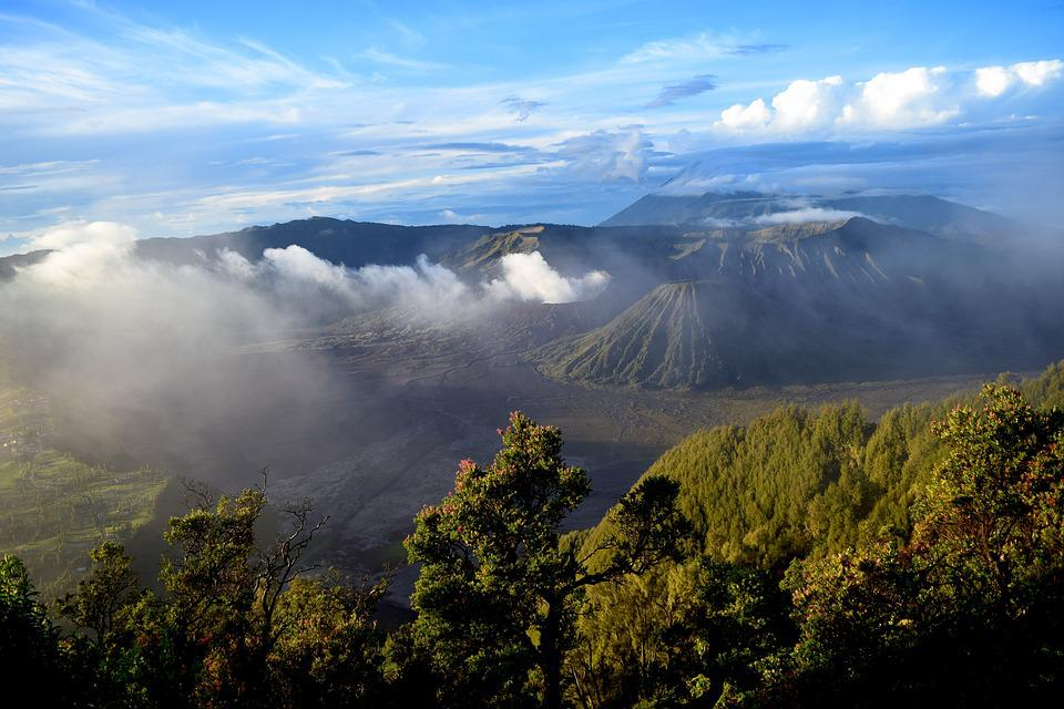 Indonesia, Volcano, Nature, Landscape