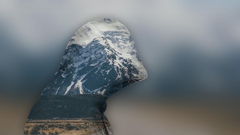 Nature, Landscape, Mountains, Cold, Man
