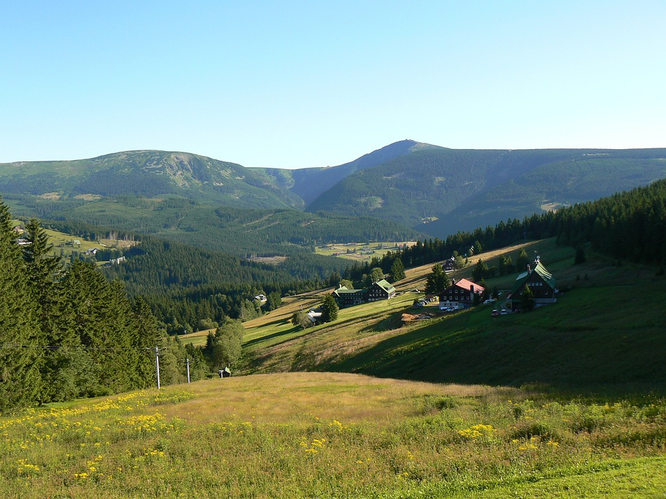 Mountains, Sněžka, Landscape, Nature