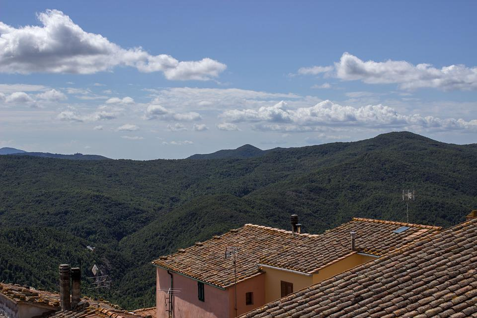 Tuscany, Nature Park, Sky, Italy, Landscape, Clouds