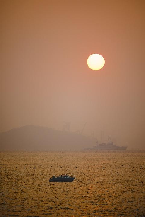 Sunset, Sun, Landscape, Nature