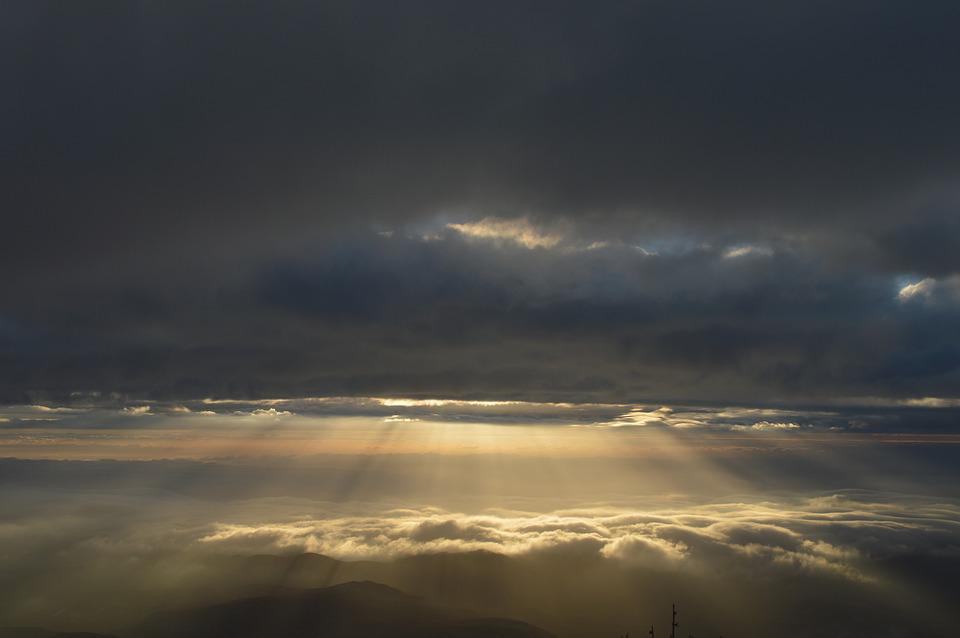 Sunset, Sky, Rays Of The Sun, Clouds, Nature, Landscape