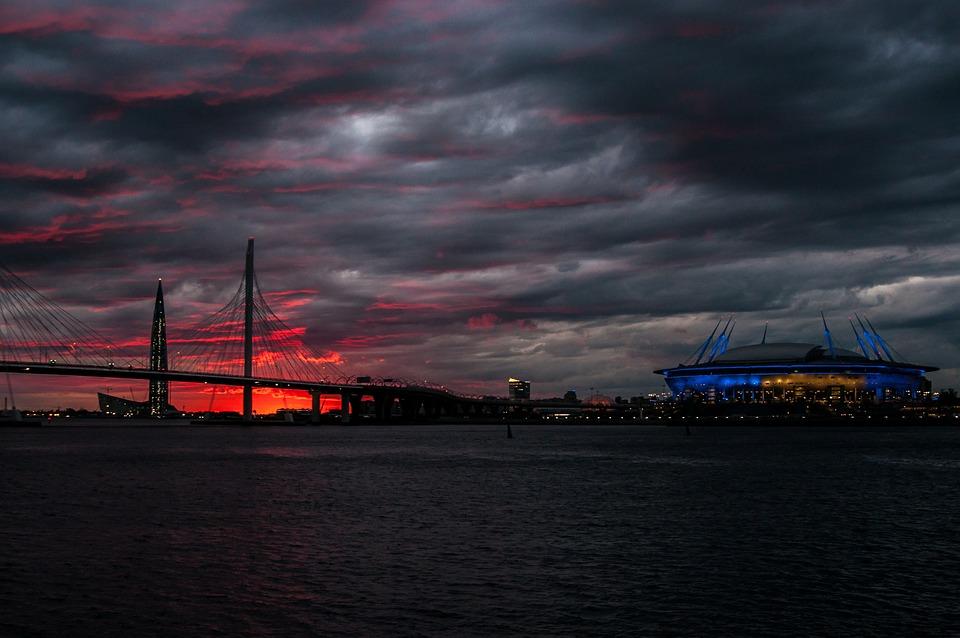 St Petersburg Russia, Sunset, Neva, Russia, Landscape