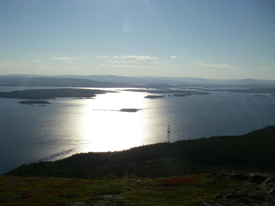 North, Sea, White Sea, Landscape, Sky, Polar Day, Lake