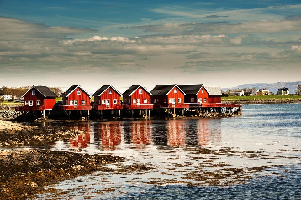Brekstad, Trondheim, Norway, Norvey, House, Landscape
