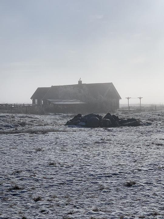 Fog, Sea, Landscape, Nature, Ocean, Black And White