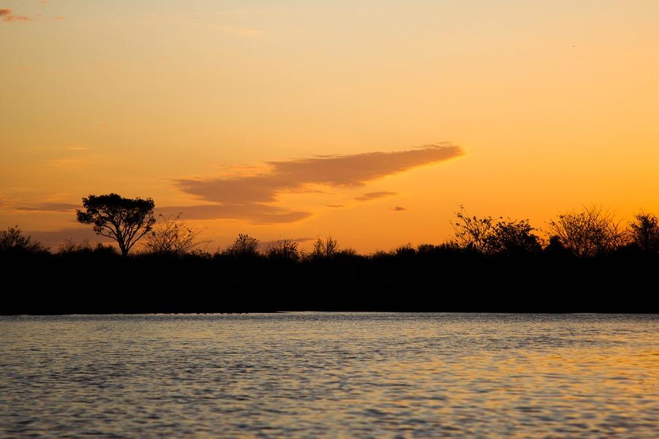 Sun, Sunset, River, Orange, Landscape, Costa Del Sol