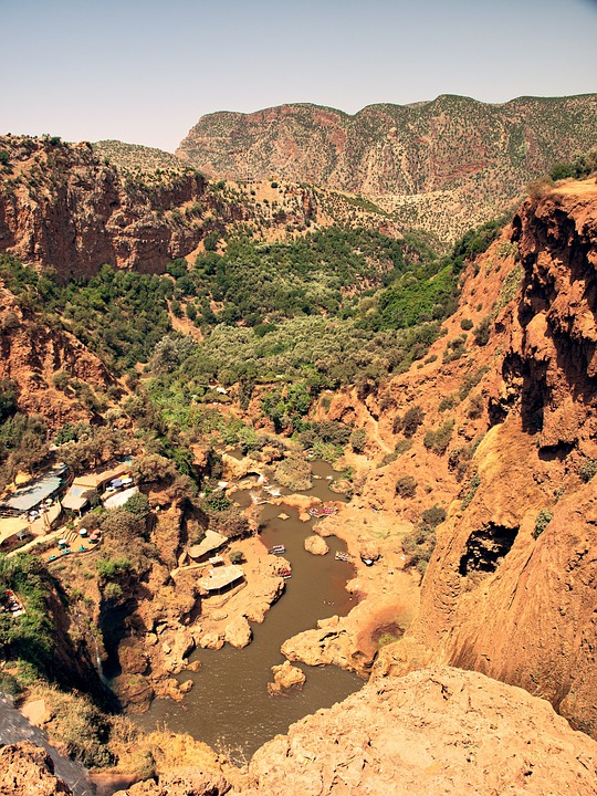 Ouzoud, Waterfalls, Falls, Morocco, Landscape, River