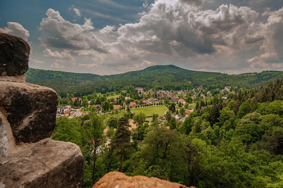 Oybin, Saxony, Landscape, Elbe Sandstone Mountains