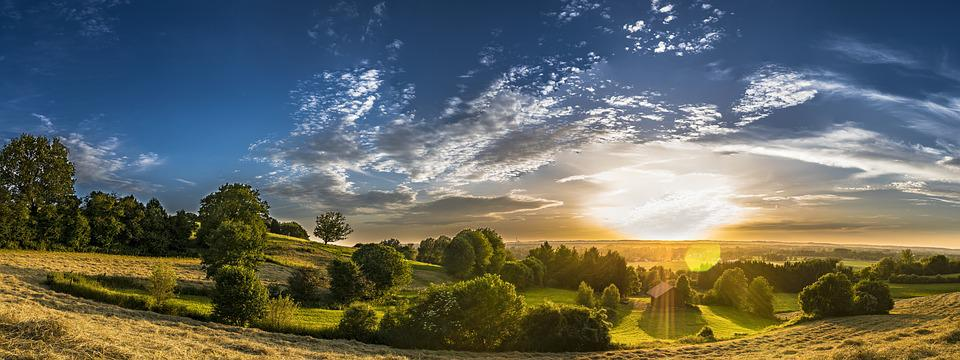 Panorama, Rural, Landscape, Agriculture, Meadow, Nature