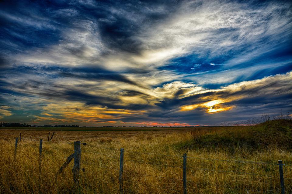Panoramic, Landscape, Nature, Sky, Outdoors, Field