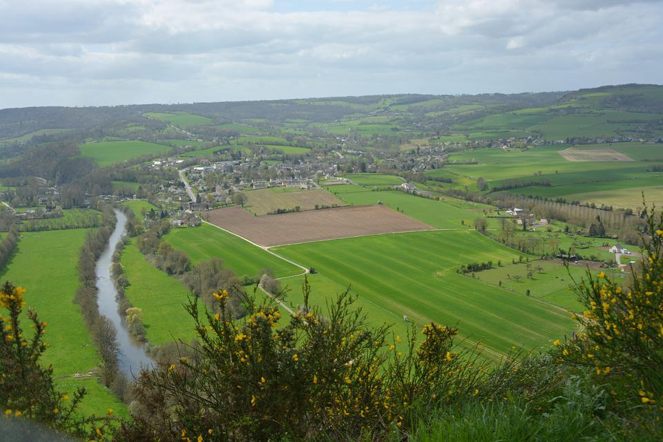 Landscape, Panoramic Views, Clécy, Normandy, The Sleeve