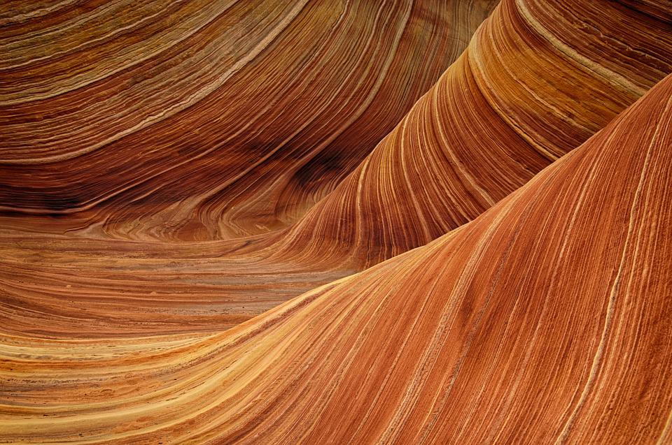 Sandstone, The Wave, Rock, Nature, Landscape, Pattern