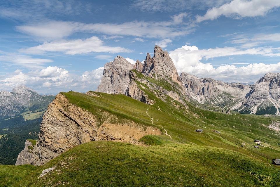 Landscape, Mountains, Peak, Summit, Mountain Range