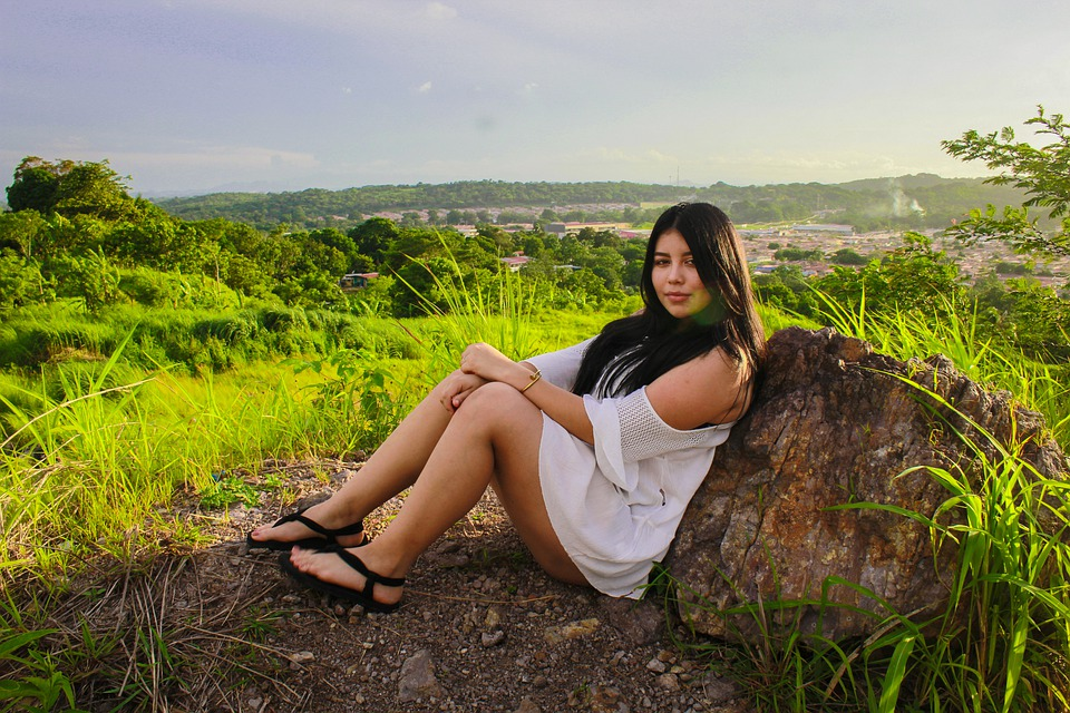 Model, Landscape, Girl, Woman, Person, Nature, Outdoors
