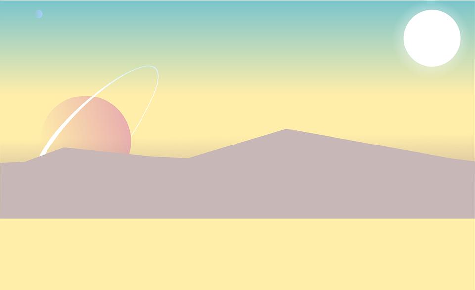 Cartoon, Landscape, Low Poly, Planets, Sand Planet