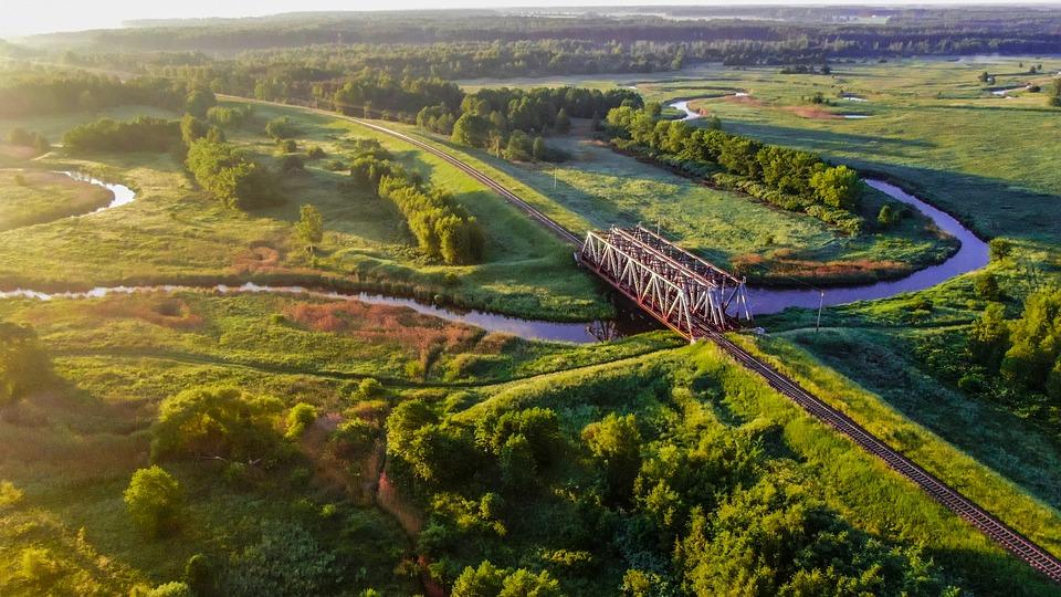 Landscape, Nature, River, Forests, Rails, Railway