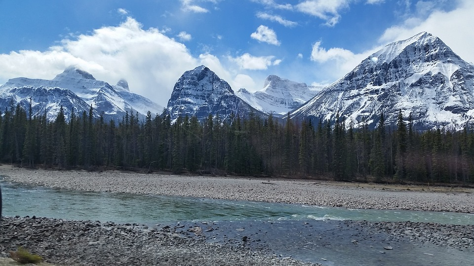 Mountains, River, Nature, Landscape, Summer, Scenic